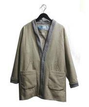 Dulcamara(ドゥルカマラ)の古着「ウールフェイクカラージャケット」 ベージュ