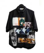 MSGM(エムエスジーエム)の古着「パッチワークS/Sシャツ」|ブラック