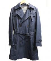 THE SUIT COMPANY(ザ・スーツカンパニー)の古着「ベンタイルコットントレンチコート」|ネイビー