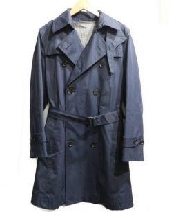 THE SUIT COMPANY(ザ・スーツカンパニー)の古着「ベンタイルコットントレンチコート」 ネイビー