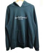 Gosha Rubchinskiy(ゴーシャラブチンスキー)の古着「Gosha Logo Hooded Sweatshirt」|グリーン