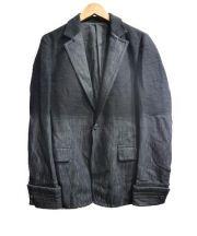 CAMIERA(カミエラ)の古着「スラブツイードグラデーションデニムジャケット」 ブラック