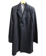 A.P.C.(アーペーセー)の古着「比翼チェスターコート」|ブラック