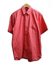 FRED PERRY(フレッドペリー)の古着「半袖シャツ」|ピンク
