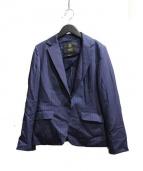 INDIVI(インディビ)の古着「ピンストライプテーラードジャケット」|ネイビー