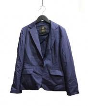 INDIVI(インディビ)の古着「ピンストライプテーラードジャケット」 ネイビー