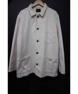BY GLAD HAND(グラッドハンド)の古着「バック刺繍カバーオール」 アイボリー
