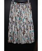TOMORROWLAND(トゥモローランド)の古着「ポリエステルフラワータックプリーツスカート」|マルチカラー