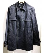 BURBERRY BLACK LABEL(バーバリー ブラックレーベル)の古着「ハーフトレンチコート」|ブラック