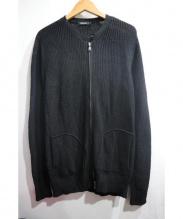 LOVELESS(ラブレス)の古着「リネン混ジップライダース」 ブラック