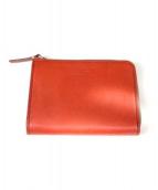 MARGARET HOWELL idea(マーガレット ハウエルエ アイディア)の古着「ラウンドファスナー財布」|レッド
