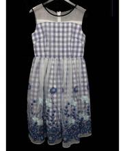 CHESTY(チェスティー)の古着「ギンガムチェックフレアワンピ」|ブルー