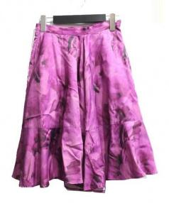TARO HORIUCHI(タロウホリウチ)の古着「フレアパンツ」|ピンク
