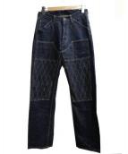 TROPHY CLOTHING(トロフィークロージング)の古着「ダブルニーナローダートデニム」|インディゴ
