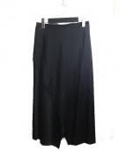 PLAIN PEOPLE(プレインピープル)の古着「デザインカットスカート」|ブラック