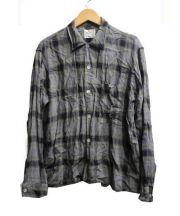 Atleigh(アトレイ)の古着「シャドーチェックシャツ」|グレー