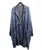 MORGAN HOMME(モルガンオム)の古着「キュプラガウンコート」|ネイビー