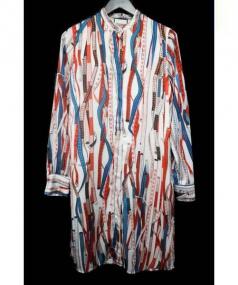 Jean Paul GAULTIER(ジャンポール・ゴルチエ)の古着「メジャーテープ柄ワンピ」|レッド