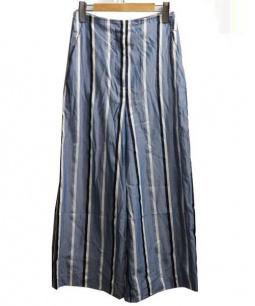 Adam et Rope(アダム エ ロペ)の古着「ワイドクロップドパンツ」 ブルー