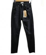 GYDA(ジェイダ)の古着「thigh highダメージデニムパンツ」|ブラック