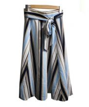 JUSGLITTY(ジャスグリッティ)の古着「ストライプフレアスカート」|ブルー