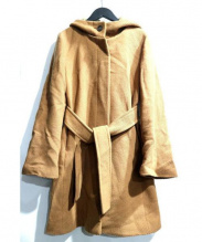 Adam et Rope(アダム エ ロペ)の古着「フーデットベルト付コート」|ブラウン