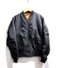 AVIREX(アヴィレックス)の古着「MA-1フライトジャケット」|ブラック
