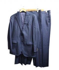 UNIVERSAL LANGUAGE(ユニバーサルランゲージ)の古着「2パンツスーツ」|ネイビー