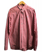 AAPE BY A BATHING APE(エーエイプ バイ ア ベイシング エイプ)の古着「バックプリントチェックシャツ」
