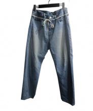 CYDERHOUSE(サイダーハウス)の古着「ライクアボンテージパンツ」|インディゴ
