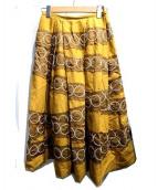 mina perhonen(ミナペルフォネン)の古着「tambourineスカート」|イエロー