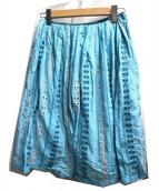 mina perhonen(ミナペルフォネン)の古着「chiyo TS5911」|スカイブルー