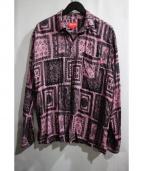 SUPREME(シュプリーム)の古着「Laces Rayon Shirt」|ピンク