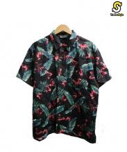 CUT-RATE(カットレイト)の古着「リネンアロハシャツ」|ブラック