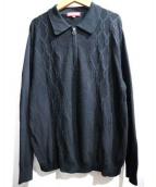 SUPREME(シュプリーム)の古着「Supreme Cable Stripe Knit Polo」|ブラック