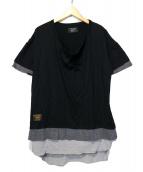 glamb(グラム)の古着「Tri layered CS」|ブラック