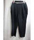 ENFOLD(エンフォルド)の古着「レーヨンジャージータックパンツ」|ブラック