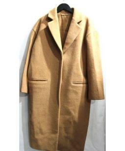 Mila Owen(ミラオーウェン)の古着「バックベルトチェスターコート」|ベージュ