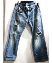 Hysteric Glamour(ヒステリックグラマー)の古着「小窓加工デニムパンツ」 インディゴ