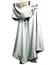 eimy istoire(エイミー イストワール)の古着「ベアトップ+スカートセットアップ」|ミント