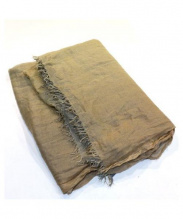 FALIERO SARTI(ファリエロサルティ)の古着「マイクロモダール×シルクグラデストール」 グレー×アイボリー