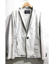 TORNADO MART(トルネード マート)の古着「Kクラウドハイブリットデニムジャケット」|ライトグレー