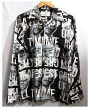 ALOHA RUG(アロハラグ)の古着「BLACK ALOHA L/S SHIRTS」|グレー
