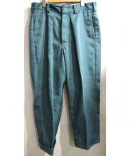 NEON SIGN(ネオンサイン)の古着「ストレートパンツ」 グリーン