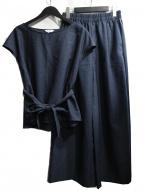PLST(プラステ)の古着「ドライポリエステルオックスパンツセットアップ」
