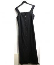 NINE(ナイン)の古着「Side Pleats Jumper Skirt」|ブラック