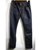 NUDIE JEANS(ヌーディジーンズ)の古着「THIN FINN DRY TWILL」|インディゴ