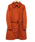 YOSOOU(ヨソオウ)の古着「ダウンコート」 オレンジ