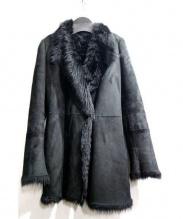 JOSEPH(ジョゼフ)の古着「ラムレザームートンコート」|ブラック