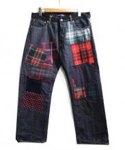 JUNYA WATANABE CDG(ジュンヤワタナベ コムデギャルソン)の古着「パッチワークデニムパンツ」|インディゴ